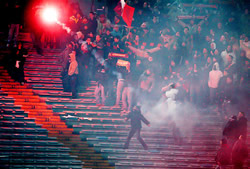Italian Ultras display amazing passion for there clubs