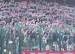 Legia Warsaw fans putting on a show